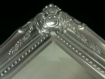NEW Bright Silver Shabby Chic French Ornate Antique Mirror - CHOOSE YOUR SIZE